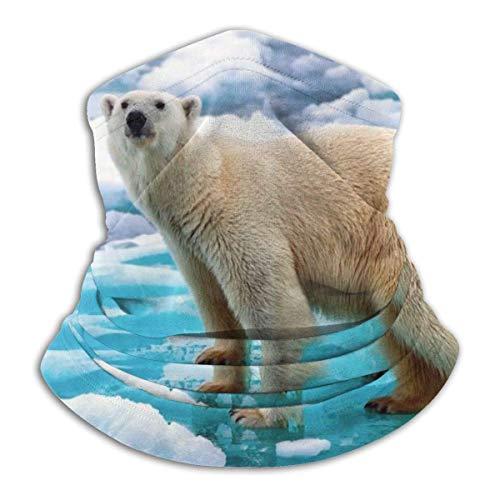 Neck Warmer Polar Bear Ice Neck Gaiter Tube Face Scarf Ear Warmer Face mas-k Headband & mas-k Ultimate