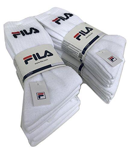 FILA. - Calcetines de deporte - para hombre 6 Paia Bianco 35-38