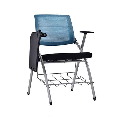 YSXFC Deckchairs bureaustoel met schrijfbord bureaustoel nieuwe eenvoudige trainingsstoel vouwen conferentie stoel