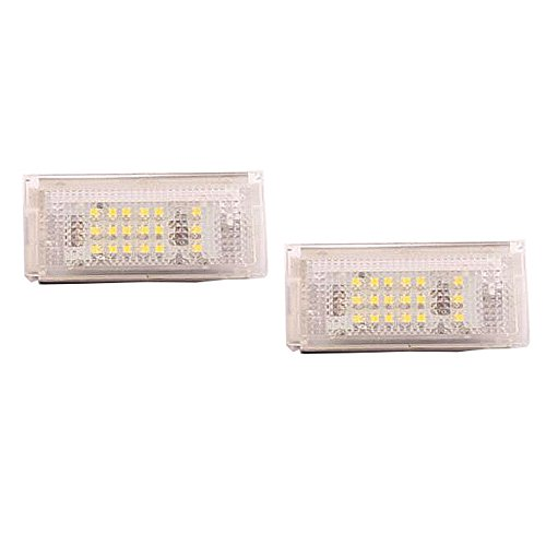 GOFORJUMP 2pcs/lot 18 LED 3528SMD plaque d'immatriculation lampe pour B/MW 3 série E46 2D M3 1998-2003 blanc brillant