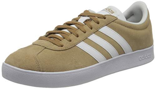 adidas VL Court 2.0, Zapatillas de Deporte Hombre, Cardboard FTWR White Grey Five, 44 2/3 EU