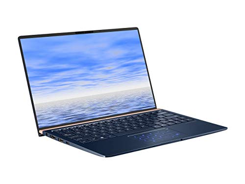 ASUS ZenBook 13 Slim Durable Laptop 13.3 in FHD Wideview, Intel Core i7-8565U Up to 4.6GHz, 16GB RAM, 512GB PCIe SSD + TPM Security Chip, Numberpad, Windows 10 Pro, UX333FA-AB77, Royal Blue (Renewed)