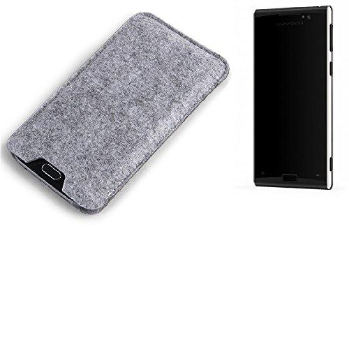 K-S-Trade Filz Schutz Hülle Kompatibel Mit Lumigon T3 Schutzhülle Filztasche Filz Tasche Case Sleeve Handyhülle Filzhülle Grau