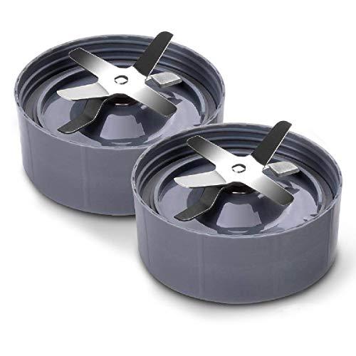 2-Pack Extractor Messen voor NutriBullet Blenders - Compatibel Vervangend Accessoire Onderdeel voor 600w en 900w Blender Modellen (2 Blades)