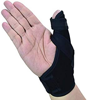 Thumb Spica Splint- Thumb Brace for Arthritis or Soft Tissue Injuries, Lightweight and Breathable, Stabilizing and not Restrictive, Fits Both Hands, a U.S. Solid Product (Small/Medium)