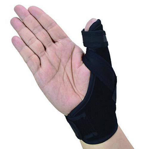 Thumb Spica Splint- Soporte de pulgar para artritis o lesiones de tejidos blandos, liviano y transpirable, estabilizador y no restrictivo, un producto sólido de EE. UU. (Pequeño)
