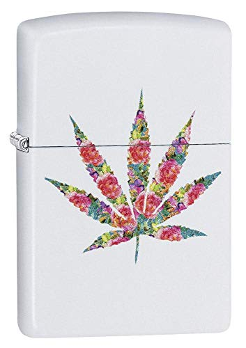 Zippo FLORAL Weed DESIGN-214-Zippo Collection 2019-60004288-46,95 €, Silber, smal