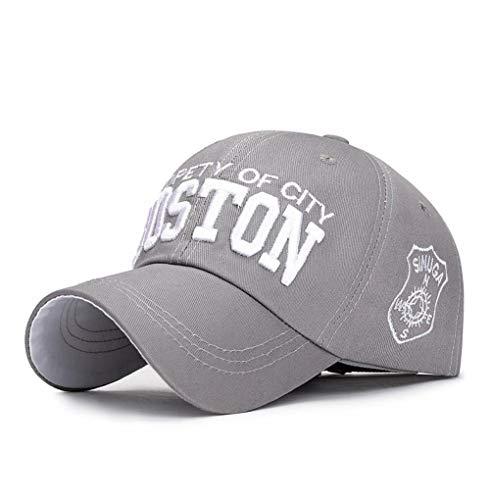 XibeiTrade - Gorra de béisbol para Hombre y Mujer, con protección UPF, Ajustable, Sombrero de Playa - Gris - Medium