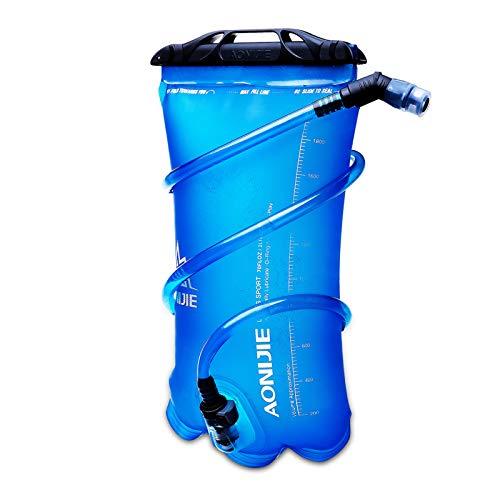 AONIJIE 1.5/2/3L TPU Poche Hydratation Réservoir d'eau Sac d'hydratation Gourde Pliable Poche Eau Bidon Bouteille d'eau Vessie (2L)