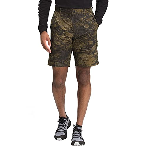 The North Face Men's Rolling Sun Packable Short, Military Olive Cloud Camo Wash Print, 36 Regular