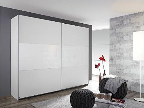 Schwebetürenschrank LORIGA Breite 175 cm alpinweiß / weiß