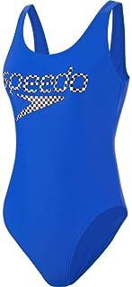 Speedo Women's Logo Deep U-Back 1 Piece Swimsuit