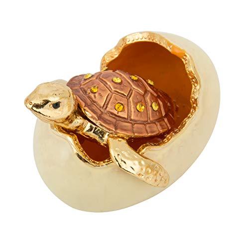 qifu handbemalt Sea Turtle Schildkröte Deko aufklappbaren Schmuck Schmuckkästchen Einzigartiges Geschenk für Home Decor