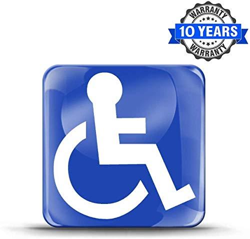 KS 56 KS 56 KS 56, 3D-gel, siliconensticker, met handicap-symbool, rolstoelrijder, rolstoel, auto, motorfiets, fiets, schaatsen, ramen, deur, tuning