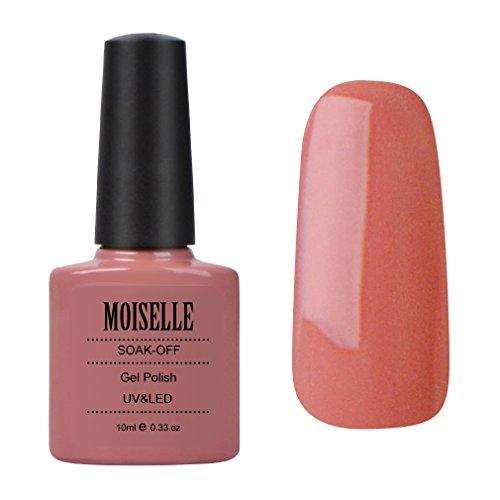 Moiselle Vernis à ongles Semi Permanent de Longue Durée Vernis Gel UV LED Manucures 10ml Coral Orange #90541