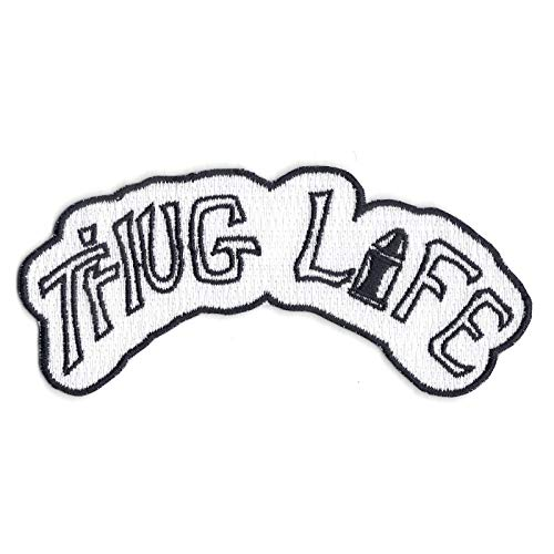 Thug Life Tattoo Patch Ink Badge Script Iron On Embroidered