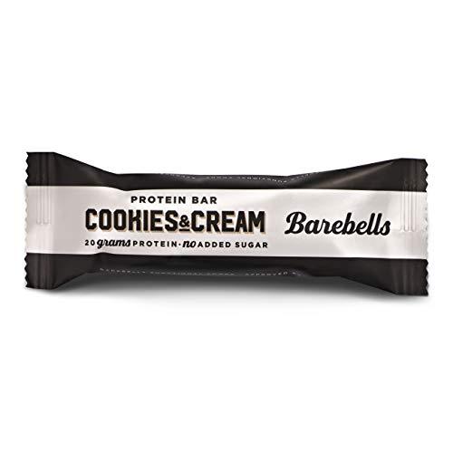 Barritas de proteínas Barebells Cookies and Cream 12 x 55g, rica en proteínas, baja en carbohidratos y en azúcar, 20g proteína por barrita