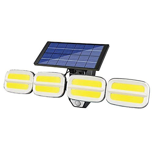 Luces Solares Al Aire Libre, Luces De Pared Solares Led Con 4 Focos, Luces De Jardín Solar, Luces Al Aire Libre Con Sensor De Movimiento Y Función Impermeable, Adecuado Para Jardines, T(Color:240 COB)