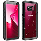 RedPepper Galaxy S8 Waterproof Case, Full Body Sealed Protection with Built-in Screen Protector IP68 Waterproof Shockproof Case for Samsung Galaxy S8 (Black/Clear)