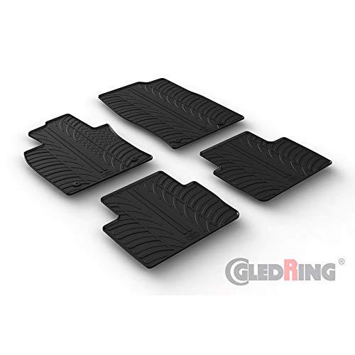 Gledring 0226 Satz Gummimatten Mazda CX-30 8/2019- (T Profil 4-teilig + Montage-Clips), Black, Set of 4