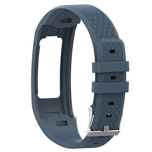 Uhrenarmbänder Ersatz für Garmin Vivofit 1 Vivofit 2 Weiches Silikon Uhrenarmband Sports Ersetzerband mit Schließe Sports Replacement Strap Verstellbares Ersatzarmbänder Zubehör (Gary)