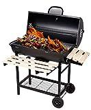 SunJas Barbecue/Griglia a Carbone BBQ Grill Carrello, Palla con Regolazione della Temperatura, Grill...