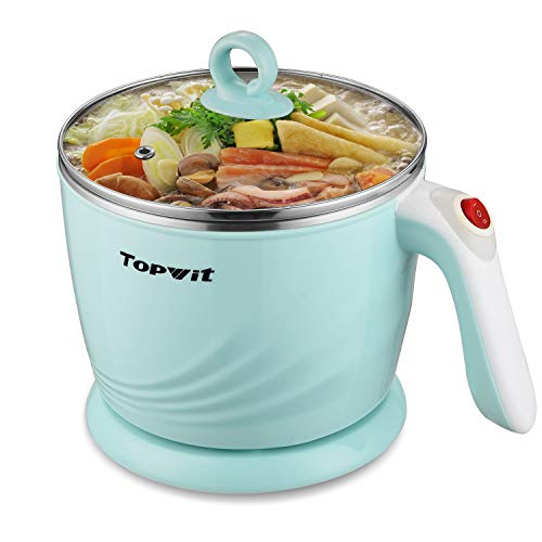 Cheapest Price! Topwit Electric Hot Pot Mini, Electric Cooker, Noodles Cooker, Electric Kettle with ...