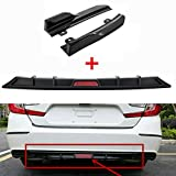 MotorFansClub Rear Bumper Diffuser Fit for Compatible with Honda Accord 2018 2019 Lower Guard Diffuser Lip + Trim Wing Body Kits, Matte Black + Glossy