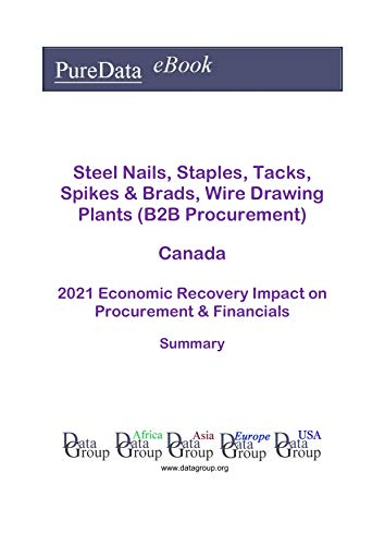 Steel Nails, Staples, Tacks, Spikes & Brads, Wire Drawing Plants (B2B Procurement) Canada Summary: 2021 Economic Recovery Impact on Revenues & Financials (English Edition)