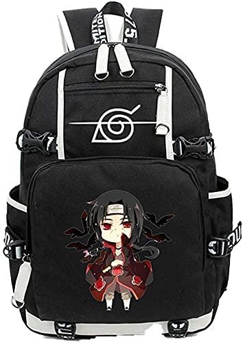WFQTT Mochila de Anime Naruto para adolescentes, Akatsuki Itachi Cosplay, A10., 46×30×14cm