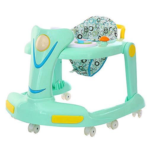Wangxiaoxia-Baby Trotteur Trépied d'activité 2 en 1 - Assis ou à Pied, Hauteur du siège Ajustable Position Facile à Replier Jouets et activités Amusants for bébé Cadeau pour Bébé (Couleur : Bleu)