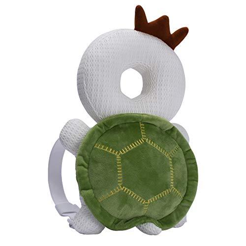 Bebamour Baby Head Schutzpolster Atmungsaktive Köpfe Stützkissen für Kleinkinder Verstellbare Kopfstützen-Rückenschutzkissen (Turtle)