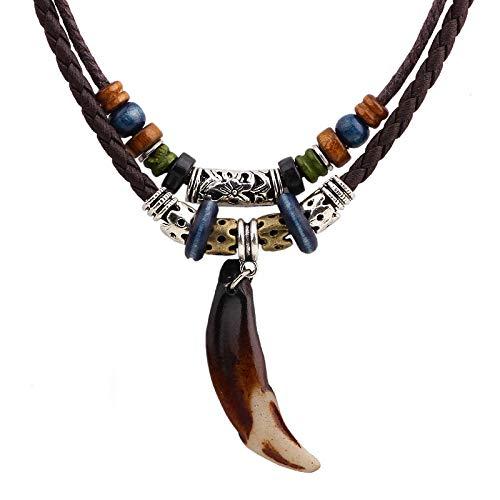 Collar De Estilo Étnico Joyería Colgante De Hombre Joyería De Elemento Chino Collar De Hombre Collar De Diente De Perro