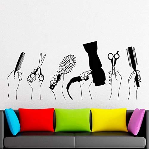 fdgdfgd Friseur Wandtattoos Schönheitssalon Frisuren Frisur Styling Vinyl Fenster Aufkleber Friseur Werkzeuge Friseursalon Dekoration