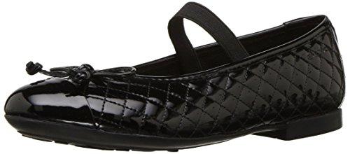 Geox Girls JR PLIE' B School Uniform Shoe, Black, 32 EU