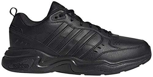 adidas Men's Strutter Wide Sneaker, core Black/Grey Six, 10.5