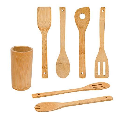 Bamboo Wooden Spoons & Spatulas Set