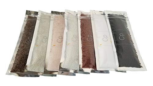 Cpise Gourmet Sea Salt Sampler Gift Set (Chef Edition): 7 Artisanal Salts - Fleur de Sel, French Gray, Hawaiian Alaea, Hawaiian Black Lava, Himalayan Pink Rock, Smoked, Sonoma