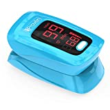 iProven Pulse Oximeter Fingertip - Blood Oxygen (O2) Saturation Level Monitor - with Heart Rate Detection - Oximetro De Pulso - Finger Oximeter with Pulse Indicator - Best Accuracy by OXI-27 Blue