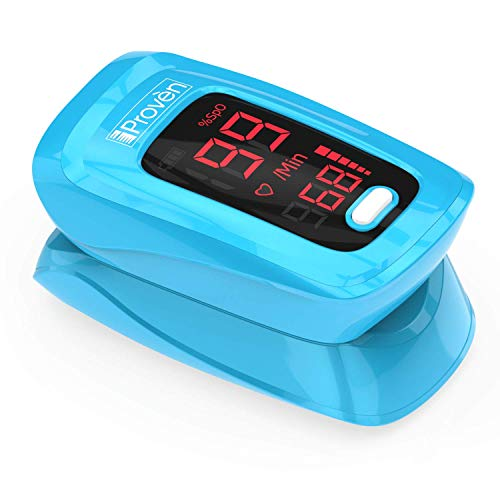 Buy Discount iProven Pulse Oximeter Fingertip - Blood Oxygen (O2) Saturation Level Monitor - with He...