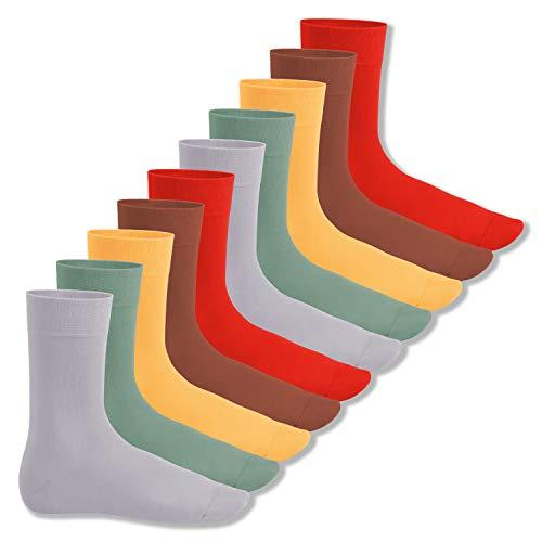 Footstar Herren und Damen Baumwollsocken (10 Paar), Klassische Socken aus Baumwolle - Everyday! - Urban Camouflage 39-42