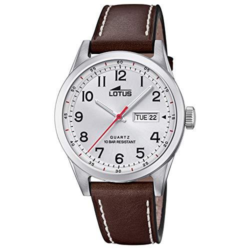 Lotus Herren Analog Quarz Uhr mit Leder Armband 18671/1