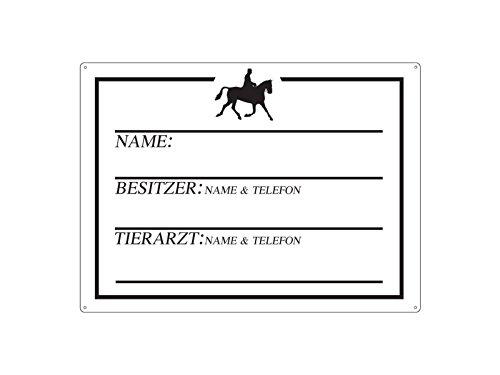 METALLSCHILD Blechschild WANDSCHILD PFERDEBOX WANDERREITER Boxenschild Pferd
