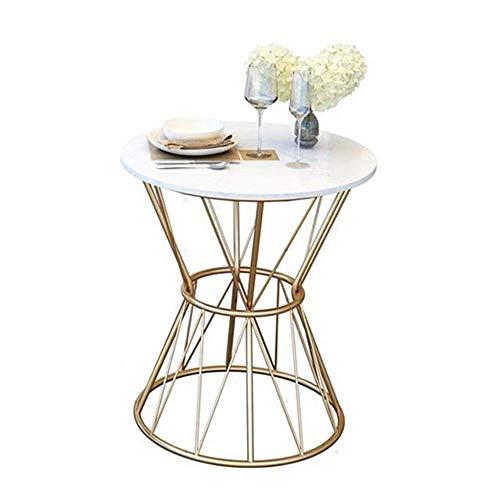 Carl Artbay Home & Selected Furniture/bijzettafel, woonkamer, rond, marmer, salontafel, rechthoekig, balkon, vrije tijd, tafel, slaapkamer, nachtkastje, goud, 19,6 x 21,6 inch