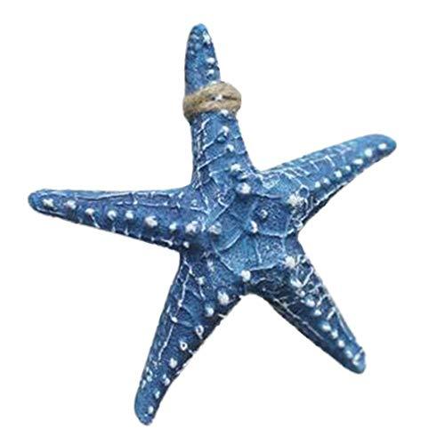 Decoración de estrella de mar de resina de 6.3 pulgadas, estilo mediterráneo, decoración para colgar en la pared, concha de mar, estrella de mar, acuario y pecera, proyecto de manualidades