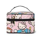 Bolsa de maquillaje, diferentes bolsas de cosméticos portátiles de viaje de Hello Kitty bolsa grande de malla organizador de brochas de tocador para mujeres y niñas