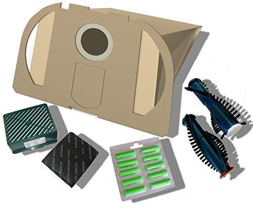 20 Staubsaugerbeutel + + Aktivfiltersystem + Bürsten EB350/351 + 10 Duft geeignet für Vorwerk Tiger 250, 251, 252 von Staubbeutel-Profi®