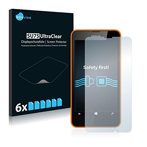 savvies 6-Pezzi Pellicola Protettiva Compatibile con Nokia Lumia 630 Dual Sim Protezione Schermo Trasparente