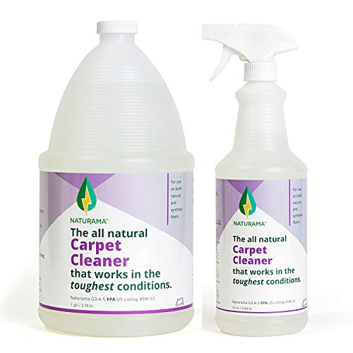 Naturama, All Natural Carpet Cleaner, Eco-Friendly EPA Listed. Carpet Shampoo - Stain Remover - Cleaning Solution. Removes up to 99% of germs. Powerful, Odor-free, Non Toxic. (Refill)