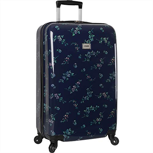 Chaps Hardside Spinner Luggage, Navy Bouquet, 28""